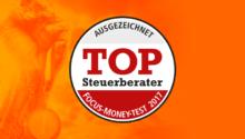 Focus Money zeichnet uns mit Top-Steuerberater-Siegel 2017 aus